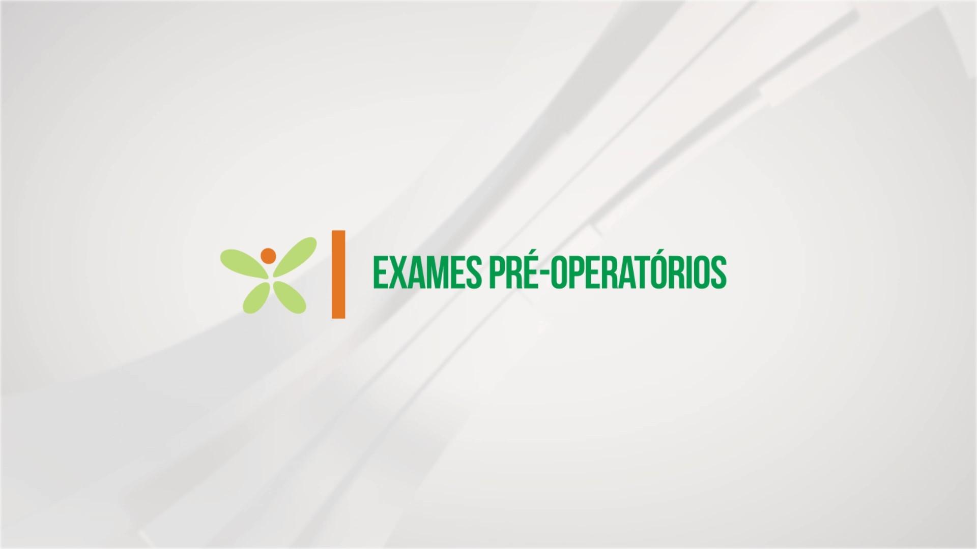 Exames pré-operatórios